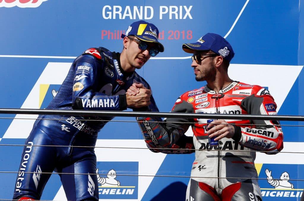 MotoGP 2018, Vinales trionfa in Australia: Iannone e Dovizioso a podio
