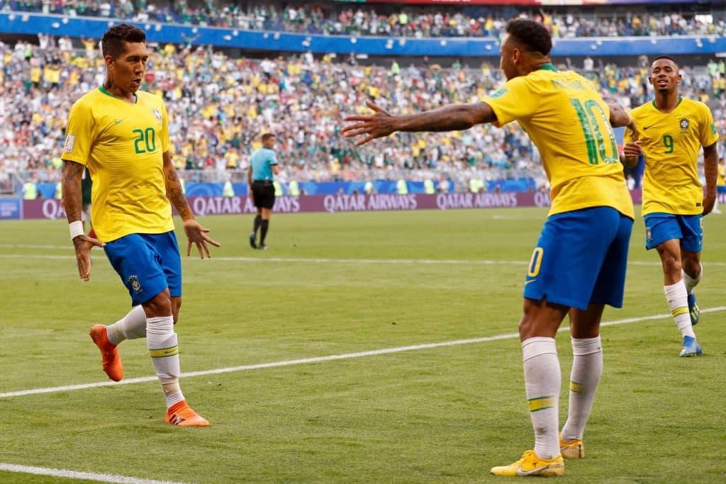 Firmino e Neymar- Brasile
