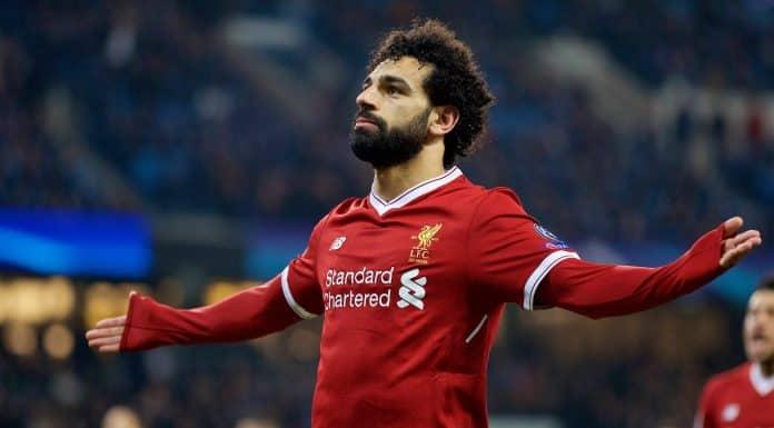 esultanza Salah, Liverpool