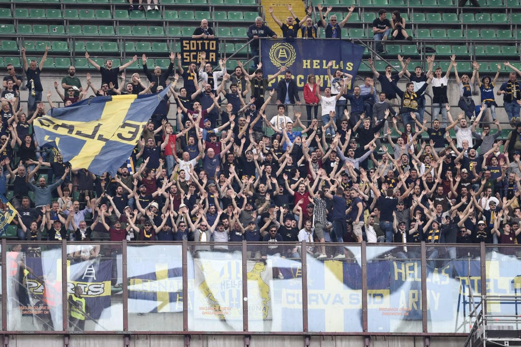 Verona - tifosi Curva Nord