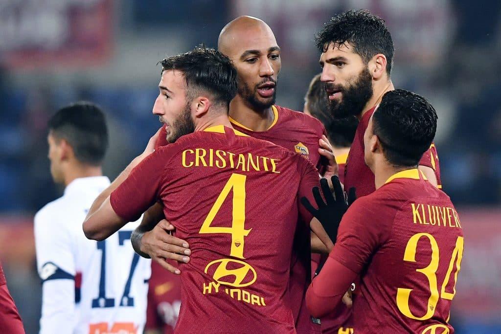 esultanza gol Bryan Cristante - Roma