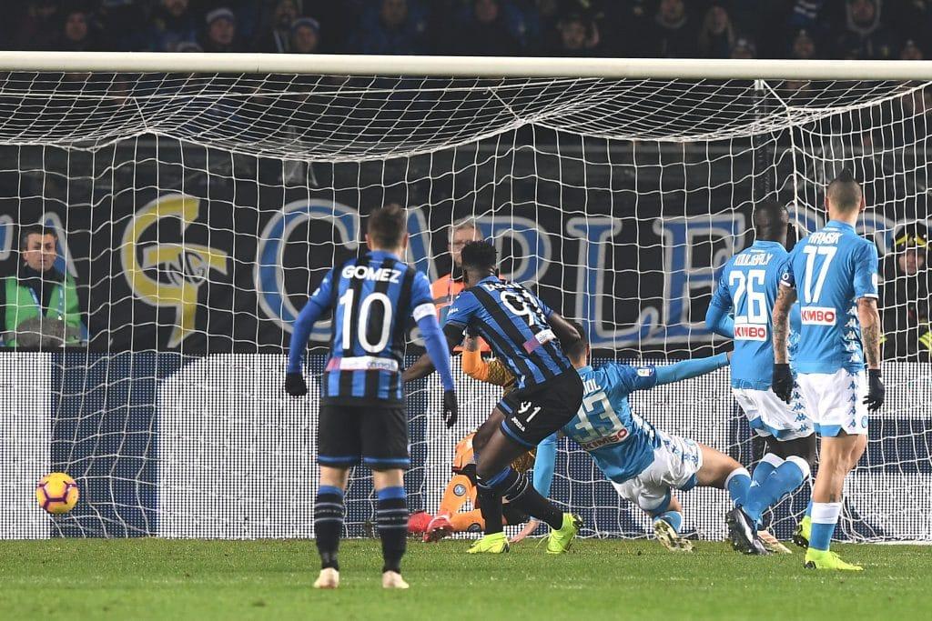 gol Zapata, Atalanta-Napoli