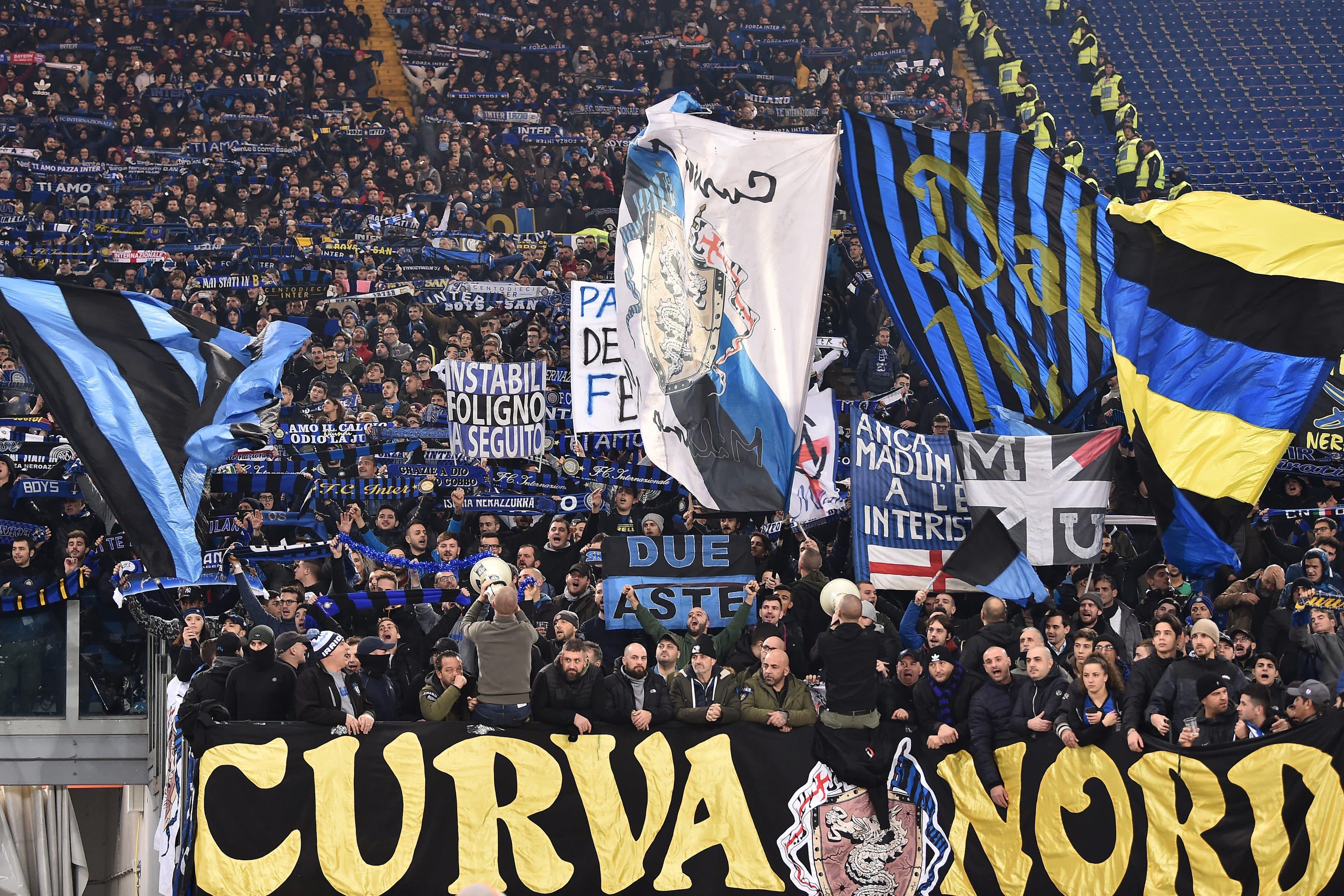 """Questore di Milano: """"Chiusura curva Inter sino al 31 marzo"""