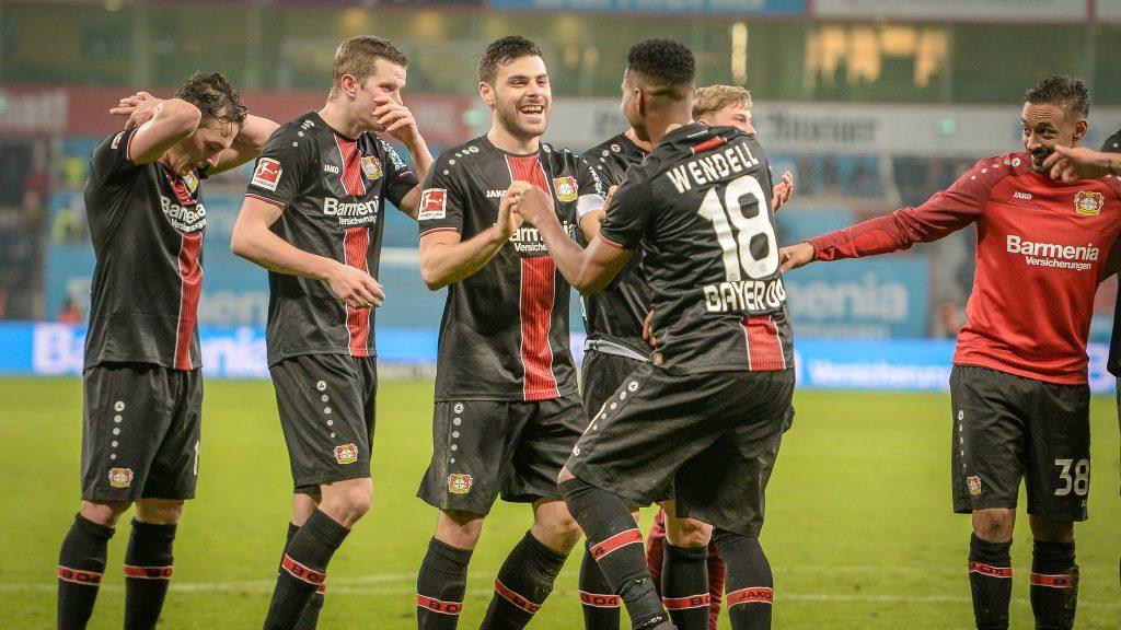 esultanza Bayer Leverkusen
