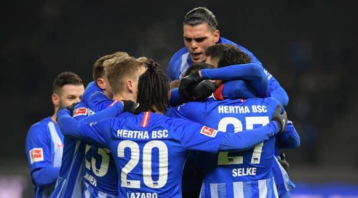 esultanza Hertha Berlino