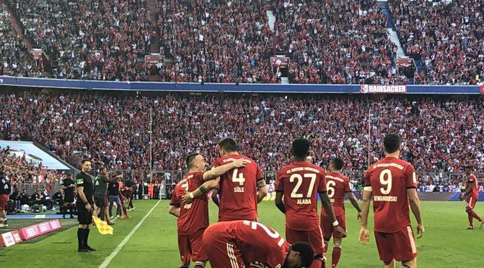 esultanza Bayern Monaco