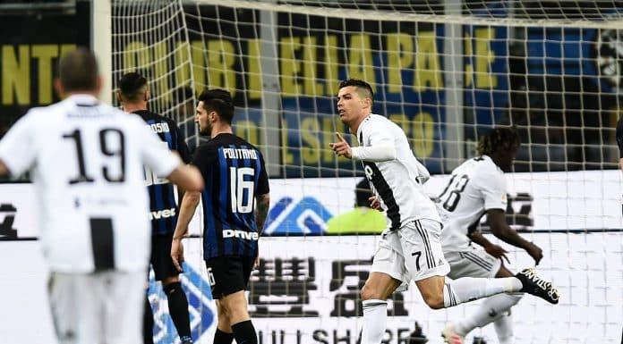 esultanza gol Ronaldo, Inter-Juventus
