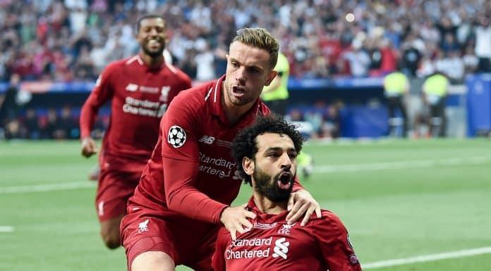 esultanza gol Mohamed Salah, Liverpool