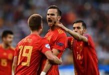 esultanza gol Fabian Ruiz, Spagna-Germania Finale Europeo Under 21