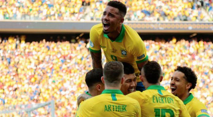 Esultanza Brasile, finale Coppa America 2019