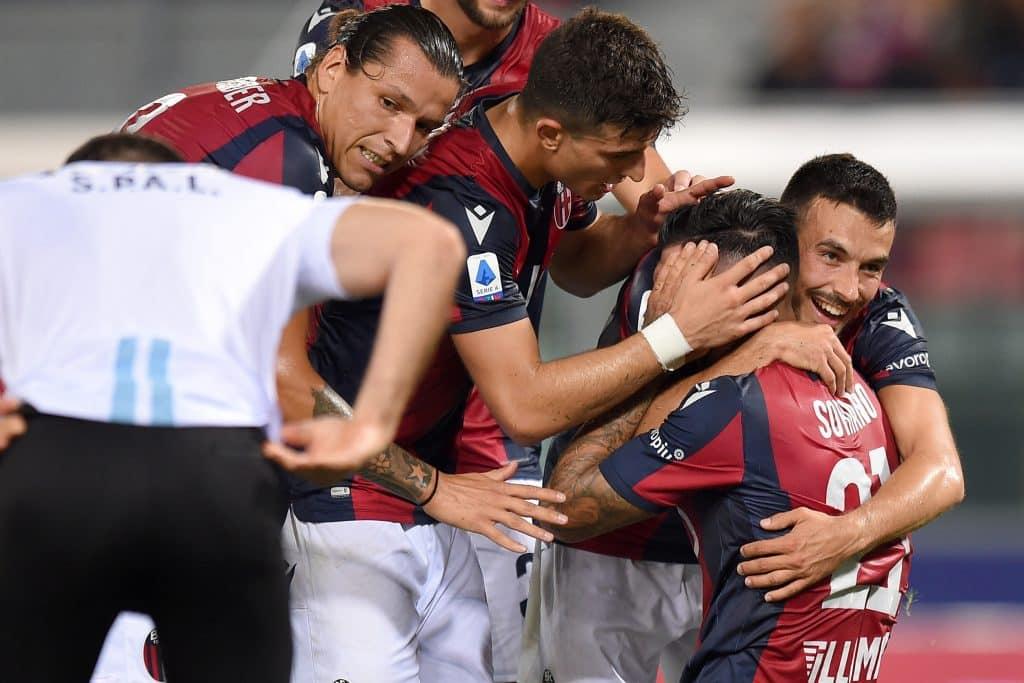 esultanza gol Soriano, Bologna-Spal