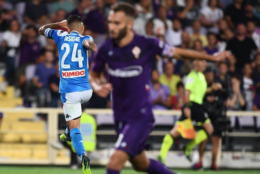 esultanza gol_Insigne, Fiorentina-Napoli
