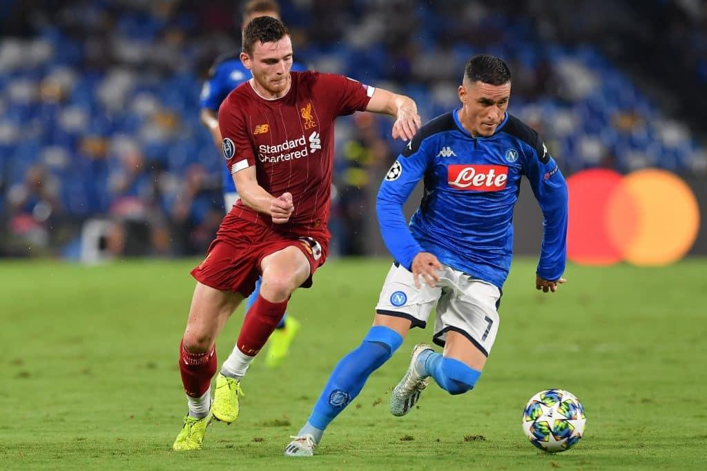 Robertson-Callejon, Napoli-Liverpool