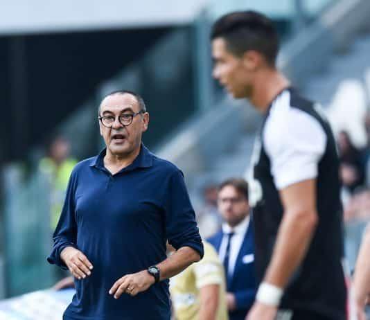 Sarri durante Juventus-Spal