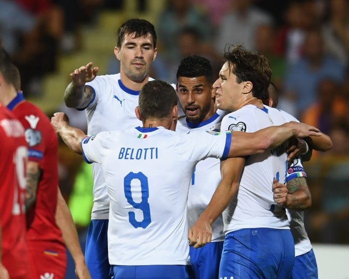 esultanza Italia, qualificazioni Euro 2020
