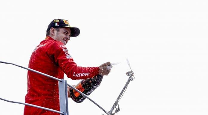 esultanza Leclerc, Gp Monza 2019 - Formula 1