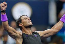 esultanza Rafa Nadal, US Open 2019