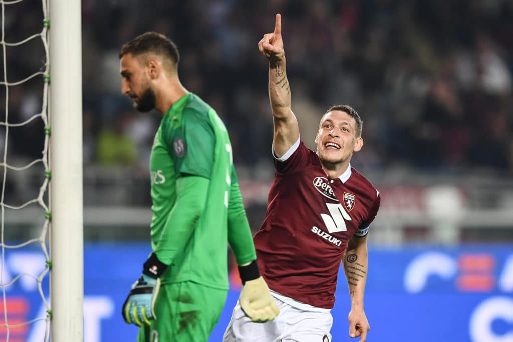 esultanza gol Belotti, Torino-Milan