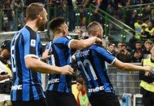 esultanza gol Brozovic, Milan-Inter