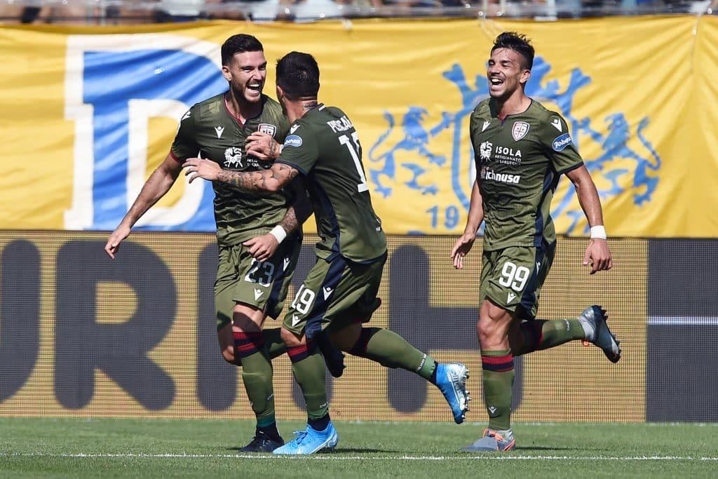 esultanza gol Ceppitelli, Parma-Cagliari