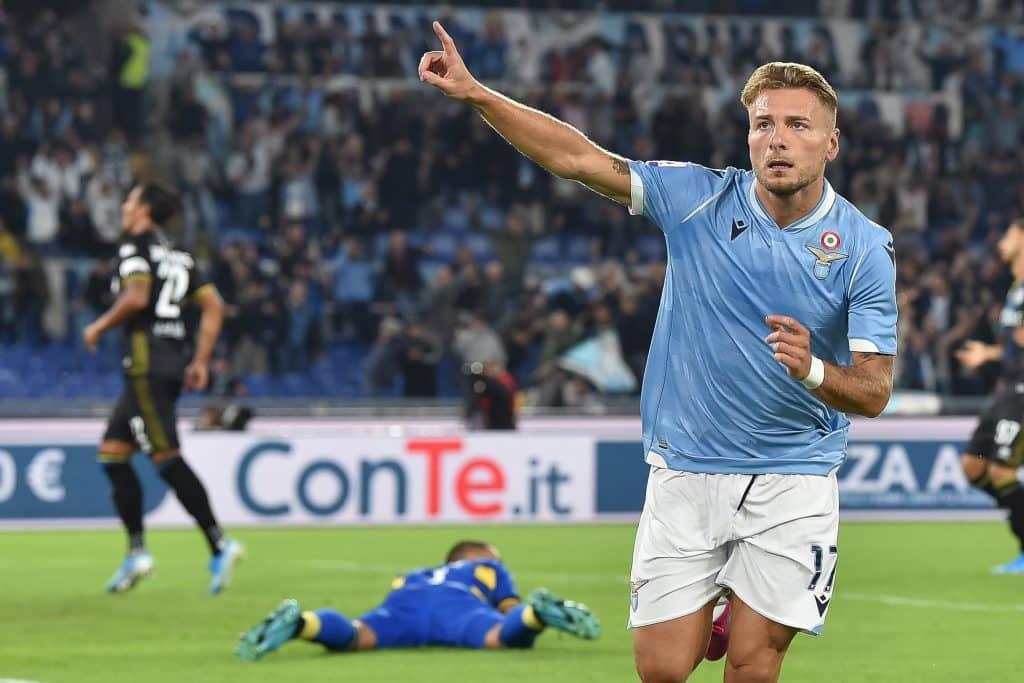 esultanza gol Immobile, Lazio-Parma