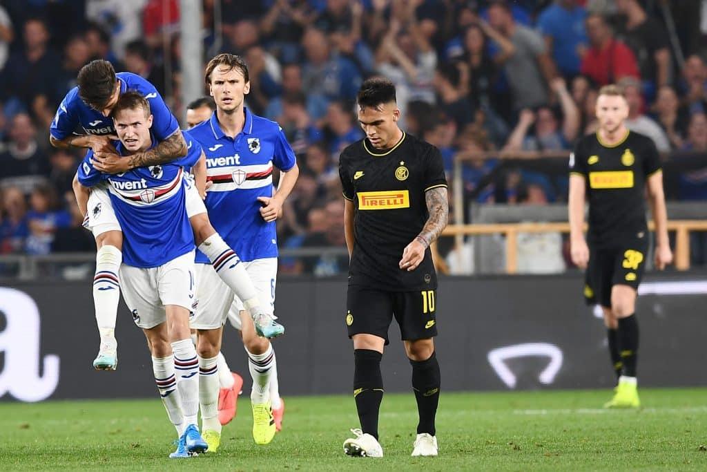 esultanza gol Jankto, Sampdoria-Inter