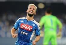 esultanza gol Mertens, Napoli-Brescia