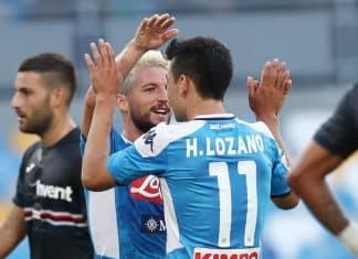 esultanza gol Mertens, Napoli-Sampdoria