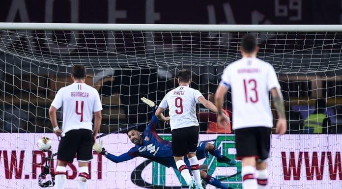 gol Piatek, Torino-Milan