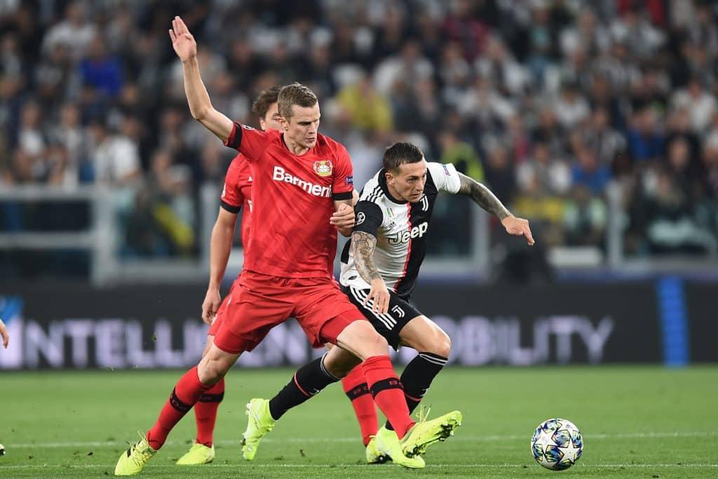 Bernardeschi-Bender, Juventus-Bayer Leverkusen