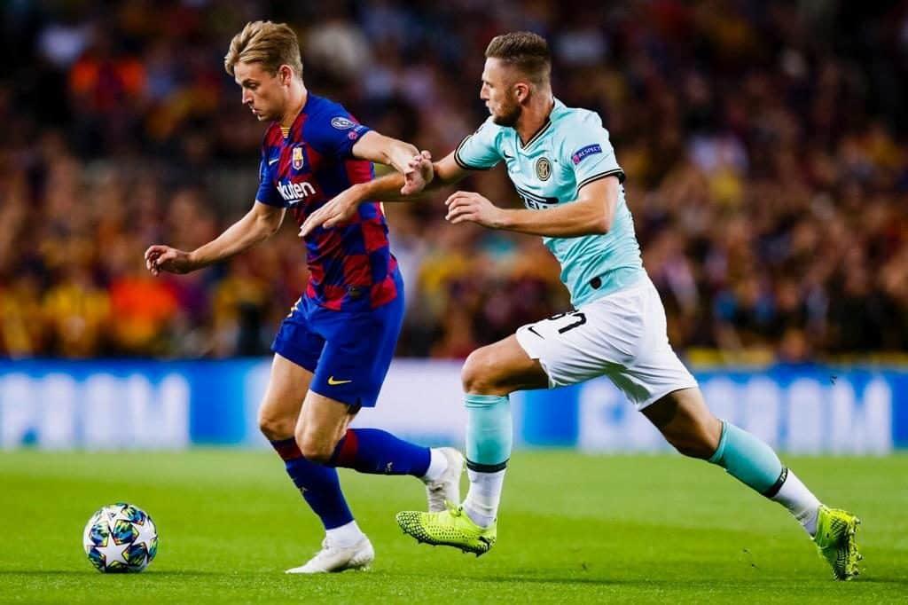De Jong e Skriniar, Barcellona-Inter