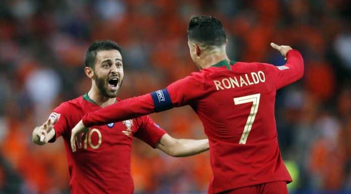Cristiano Ronaldo e Bernardo Silva, Portogallo