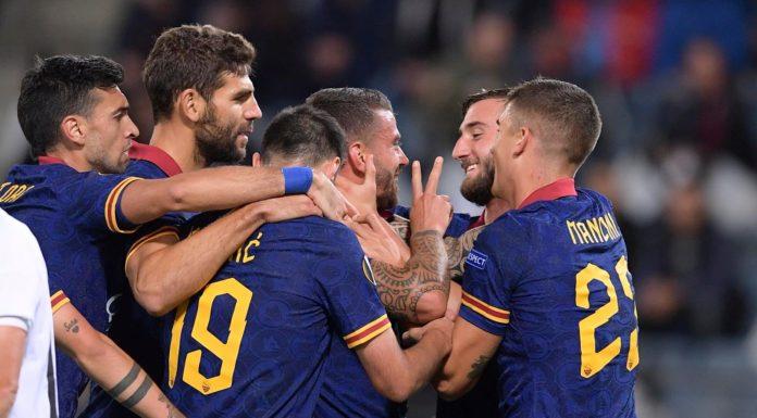 esultanza Roma, Europa League