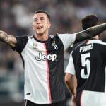 esultanza gol Bernardeschi, Juventus-Bayer Leverkusen