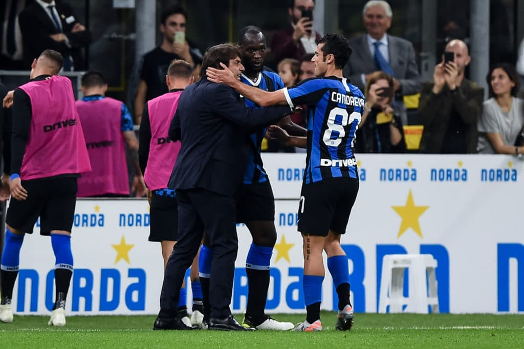 esultanza gol Candreva, Inter-Parma