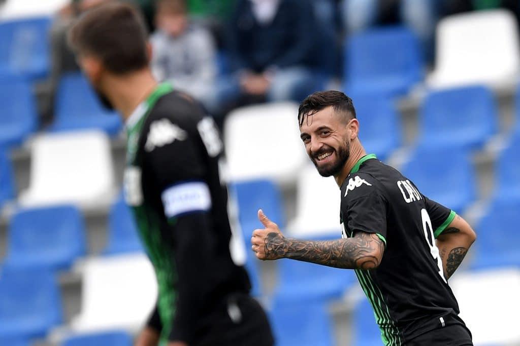 esultanza gol Caputo, Sassuolo