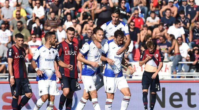 esultanza gol Gabbiadini, Bologna-Sampdoria