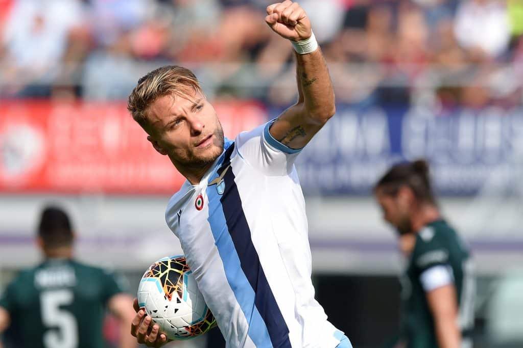 esultanza gol Immobile, Lazio