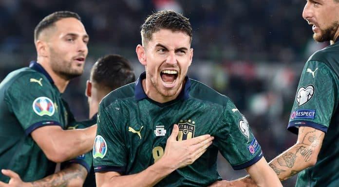 esultanza gol Jorginho, Italia-Grecia