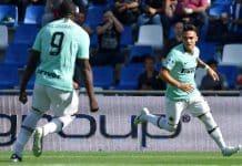 esultanza gol Lautaro, Sassuolo-Inter