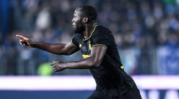 esultanza gol Lukaku, Brescia-Inter