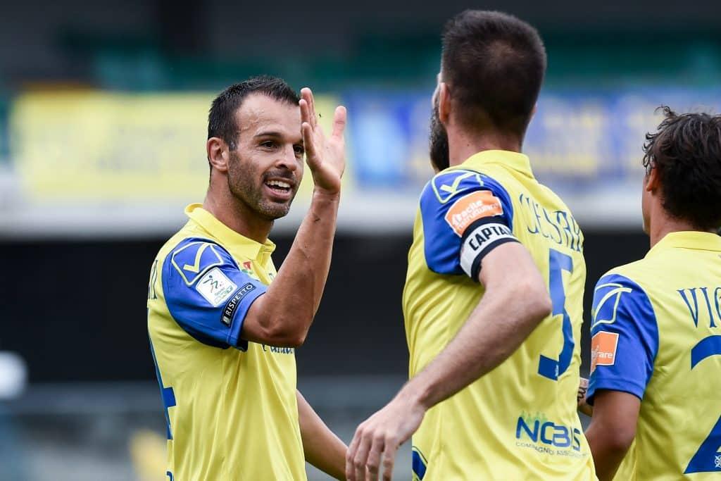 esultanza gol Meggiorini, Chievo