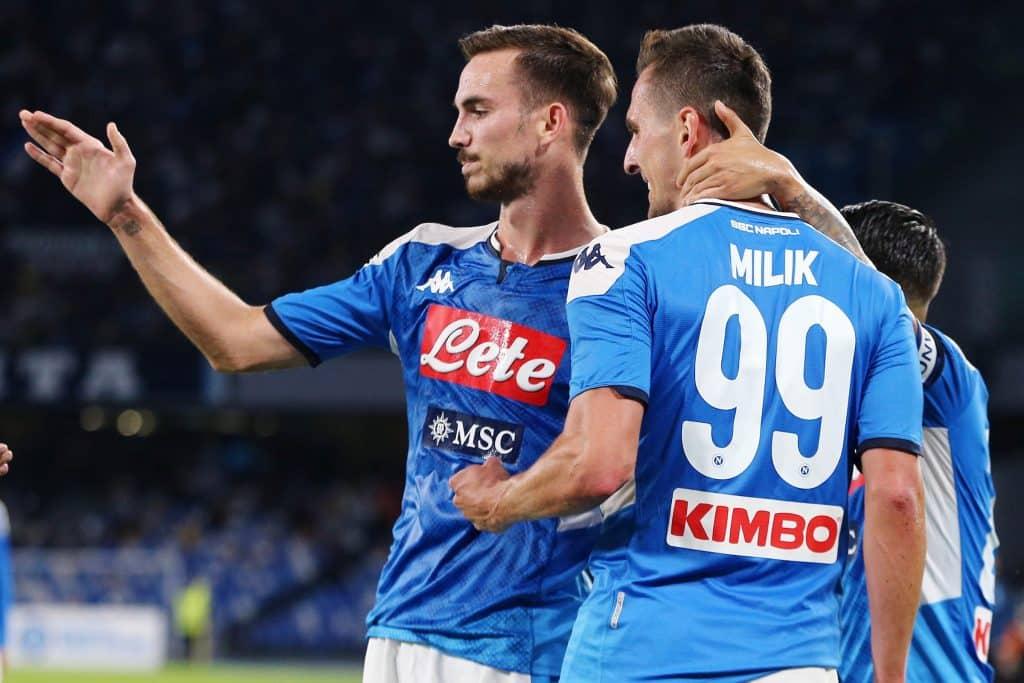 esultanza gol Milik, Napoli-Verona