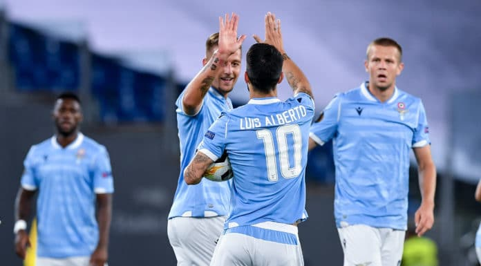 esultanza gol Milinkovic-Savic, Lazio-Rennes