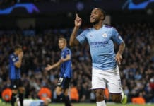 esultanza gol Sterling, Manchester City