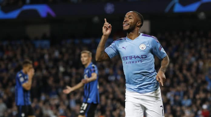 esultanza gol Sterling, Manchester City