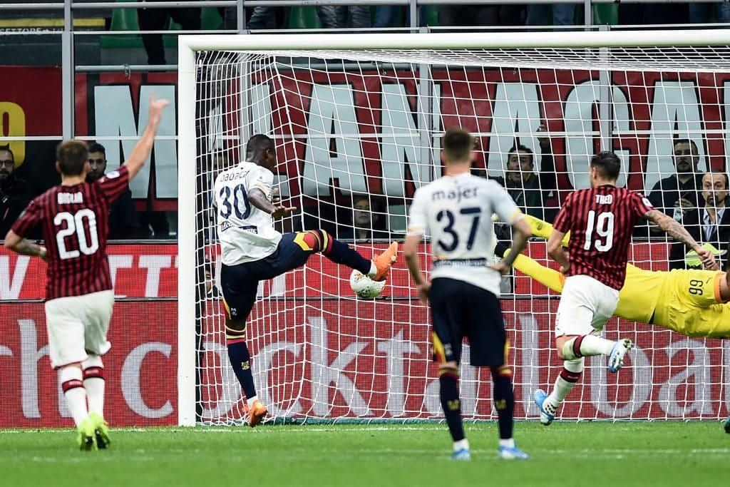 gol Babacar, Milan-Lecce