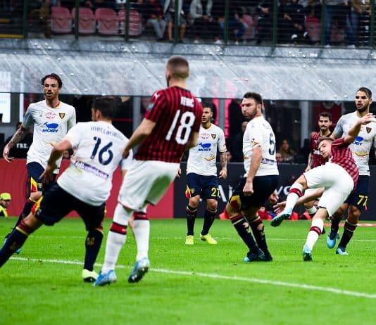 gol Piatek, Milan-Lecce