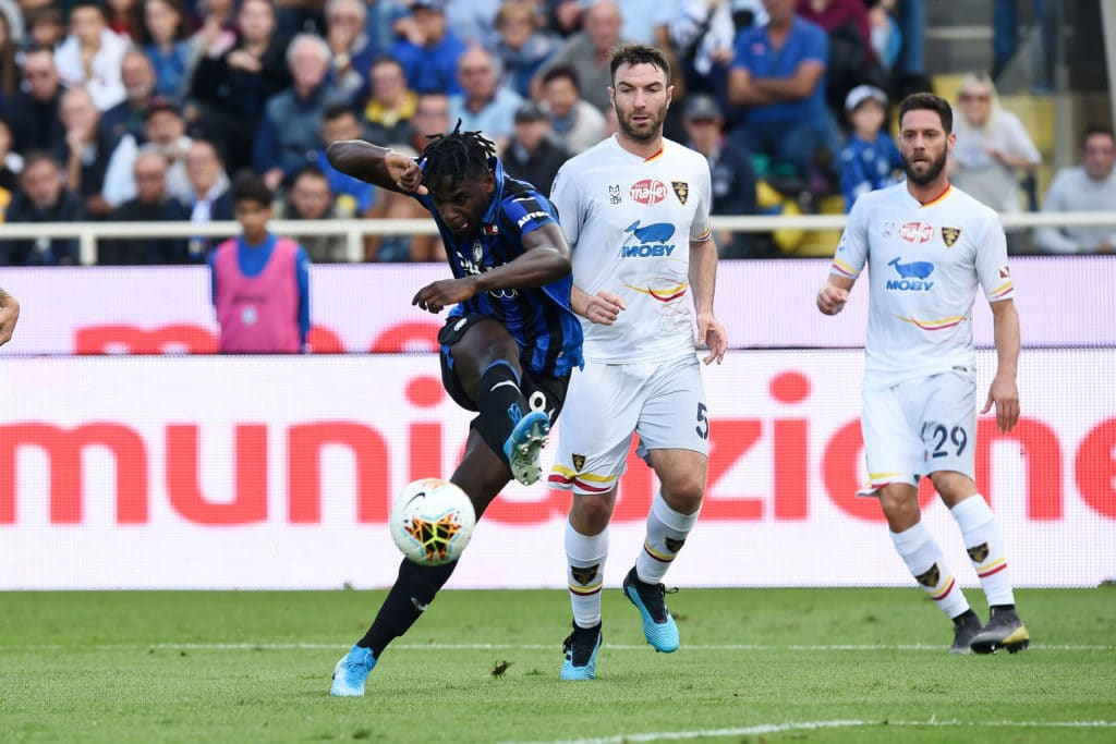 gol Zapata, Atalanta-Lecce
