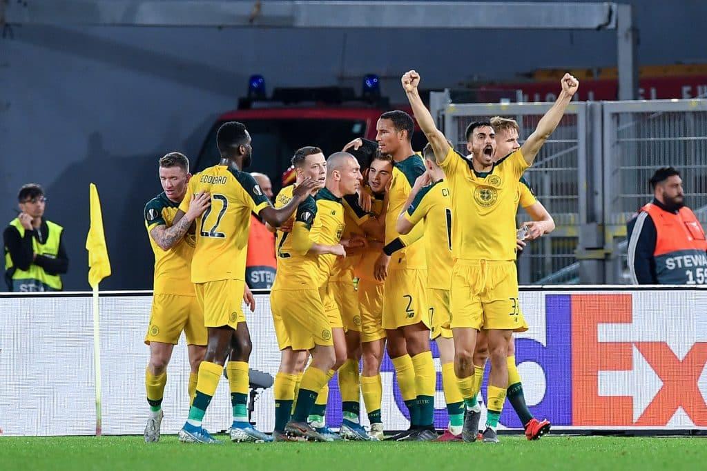 esultanza gol Forrest, Lazio-Celtic